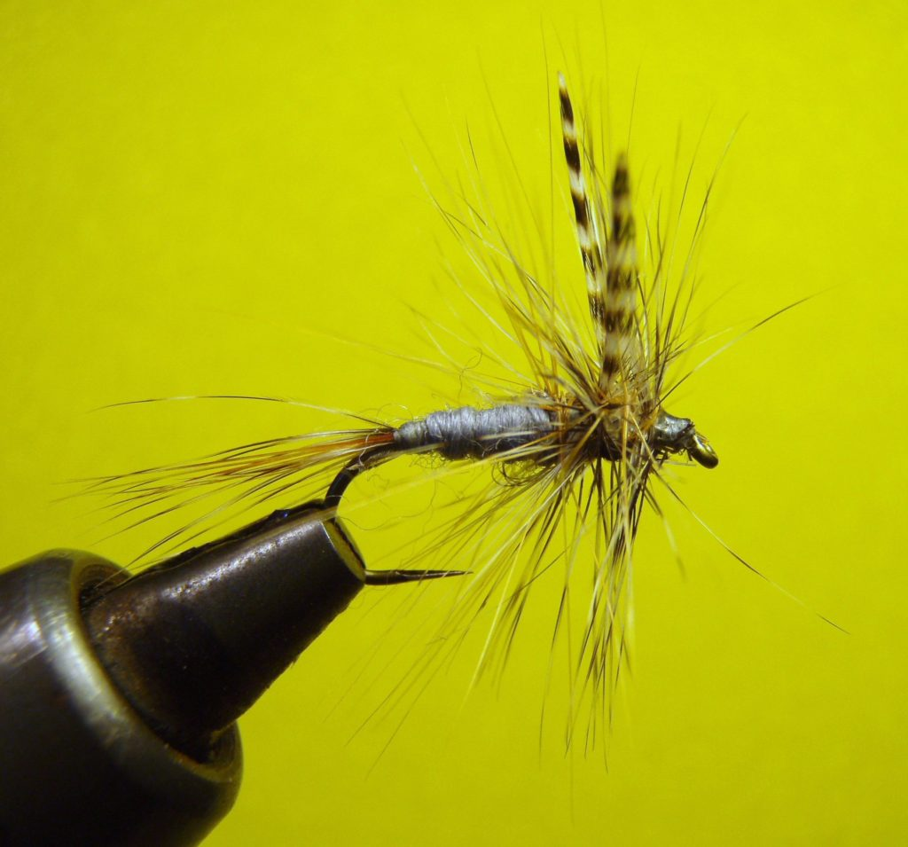 A fly with a barbless hook for catch and release flyfishing
