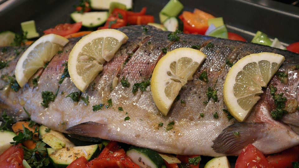 Cooked trout