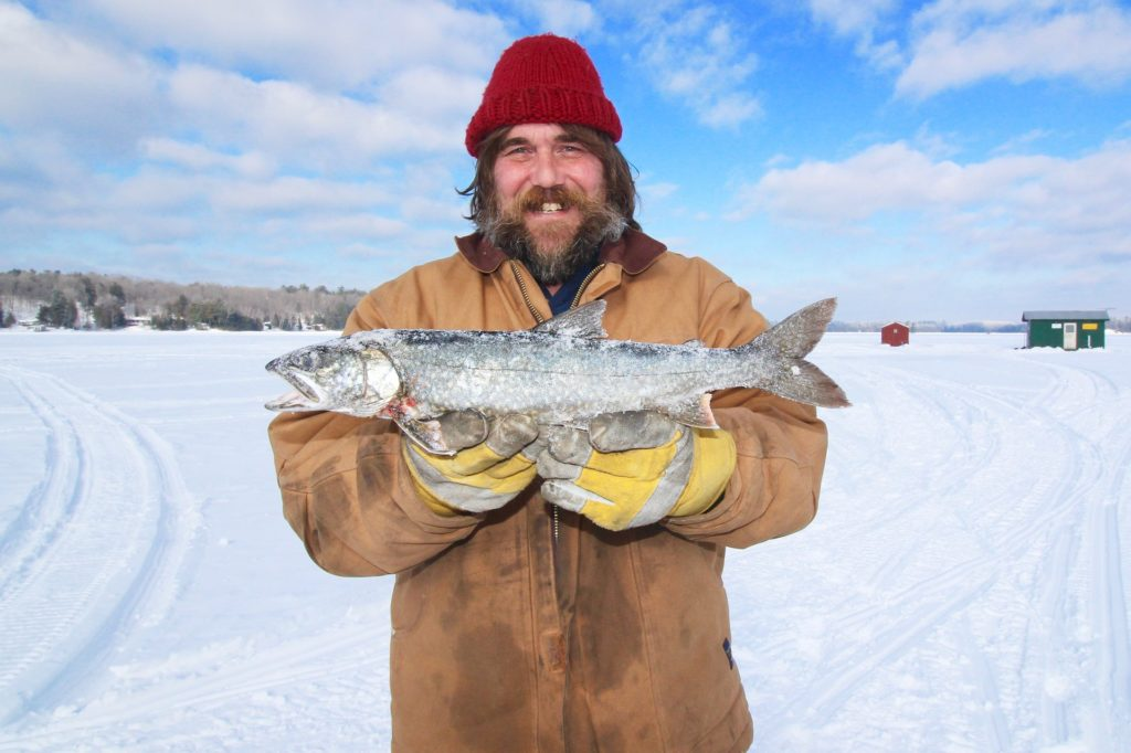 Winter ice fishing can be great for catching trout